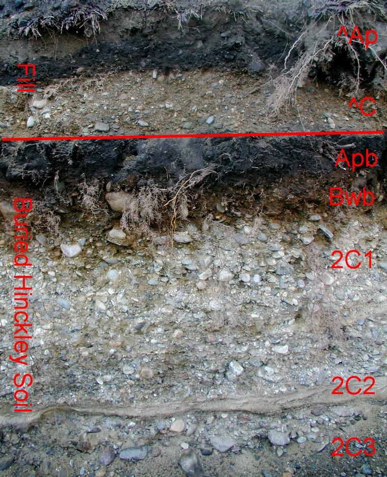 Hinckley soil profile with an htm cap for Describe soil